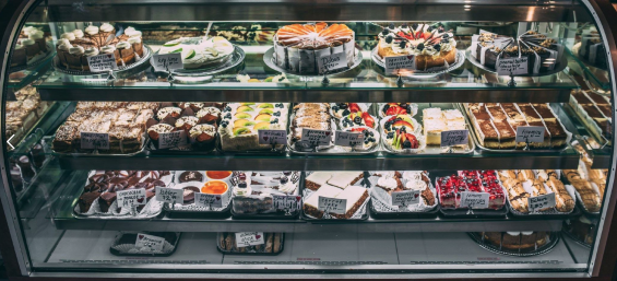 This photo of the glorious pastry case at Old Europe is from their FaceBook page.